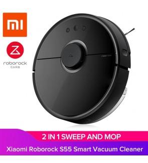 [ORIGINAL] Xiaomi MiJia 2018 Roborock S55 Gen2 Robot Vacuum Cleaner Intelligent Sensors Smart Home Wi-Fi Control with Sweep & Mop (BLACK)