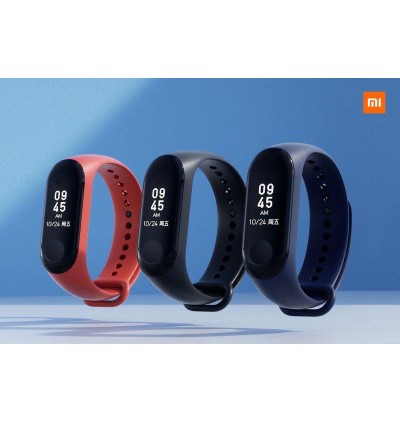 "[ORIGINAL] XIAOMI Mi Band 3 New 2018 0.78"" OLED Big Touch Screen Smart Wristband Waterproof Smartwatch Heart Rate Tracker (Black)"