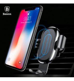 [ORIGINAL] BASEUS Wireless Charger Gravity Car Mount Holder 10W For iPhone X 8 Plus Samsung Note 8 S8 plus QI Wireless Charging Dock Charger Phone Holder Stand