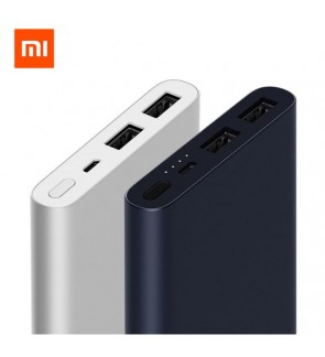 [ORIGINAL] NEW2018 Xiaomi Powerbank Gen 2 10000mAh 2 Dual USB Output Fast Charge 2-Ways Quick Charge Ultra Slim PLM09ZM for Apple iPhone Samsung
