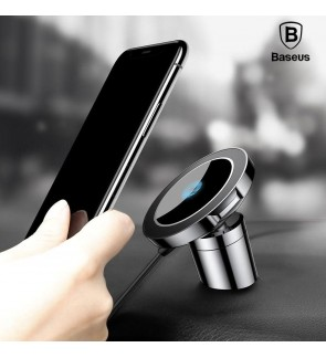 [ORIGINAL] BASEUS Big Ears Qi Wireless Fast Charge Magnetic Charging Car Mount Phone Holder 360 Degree Charger For iPhone X 10 8 Plus Galaxy Note 8 S8 S7 Charging Stand Docking Station