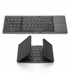 Universal Wireless Bluetooth 3.0 Foldable Keyboard with Touchpad Ultra Slim Mini Lightweight for iPhone iPad Samsung Tablet
