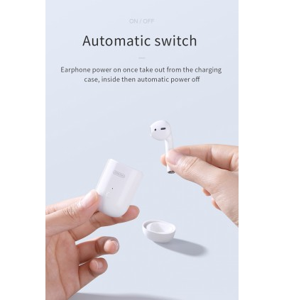 A+ TWS Wireless Bluetooth 5.0 Single Earphone AirSolo EarBuds Headset with Wireless Charging Built-in Microphone for iPhone Samsung Huawei Android
