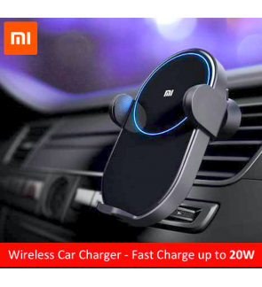 [ORIGINAL] XIAOMI Smart Wireless Car Charger 20W Power Inductive Automatic Electric Clamp Arm Double Heat Dissipation Fast Charging