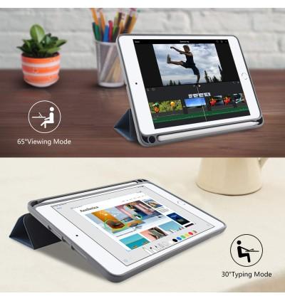 "iPad Pro 10.2"" Case Premium PU Leather iPad 10.2 inch 2019 with Apple Pencil Slot Holder"