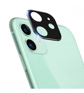 Screen Protector for iPhone 11 6.1 inch Camera Lens Protector Full Coverage Back Tempered Glass + Aluminium Alloy Metal Frame HD Clear